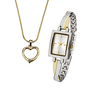 Ladies' Watch And Heart Pendant Set - Product number 8526192