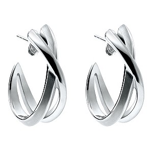 DKNY stainless steel twist hoop earrings - Product number 8526885