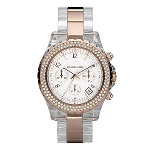 Michael Kors rose gold plated & acrylic bracelet watch - Product number 8528640