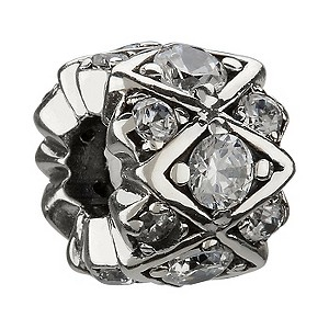 Chamilia silver Swarovski crystal bead. - Product number 8533059
