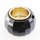 Ted Baker faceted glass jet black ring - Product number 8533547