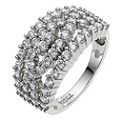 Silver & Platinum Plated Cubic Zirconia Weave Ring - Product number 8534268
