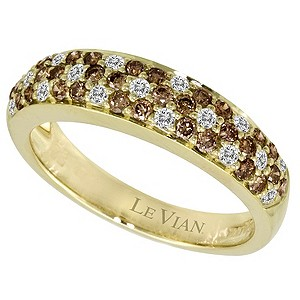 LeVian 14CT Gold 0.76CT White & Chocolate Diamond Ring - Product number 8538174