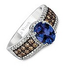 LeVian 14CT Gold Half Carat Diamond & Tanzanite Ring - Product number 8538433