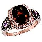 LeVian 14CT Strawberry Gold 0.35CT Diamond & Quartz Ring - Product number 8538565