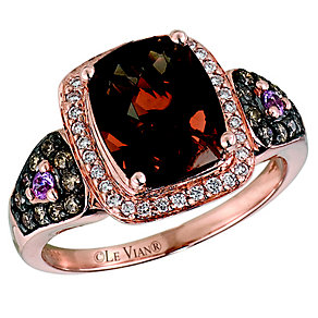 Le Vian 14CT Strawberry Gold 0.35CT Diamond & Quartz Ring - Product number 8538565