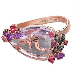 Le Vian 14CT Strawberry Gold® Diamond & Amethyst Ring - Product number 8539081