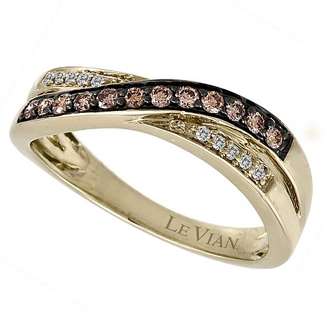 LeVian 14CT Gold Quarter Carat Chocolate Diamond Ring