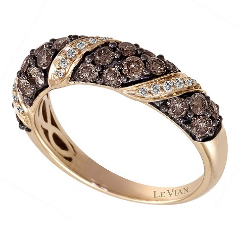 LeVian 14CT Strawberry Gold One Carat Diamond Ring