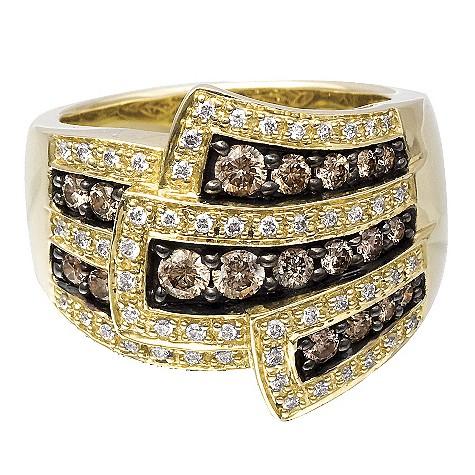 Le Vian 14ct gold 1 carat chocolate diamond flower ring