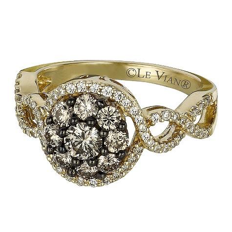 LeVian 14CT Gold One Carat Chocolate Diamond Ring