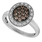 LeVian 14CT Gold Forty Point White & Chocolate Diamond Ring - Product number 8540551