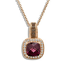 Le Vian 14ct Strawberry Gold 20pt diamond rhodolite pendant - Product number 8540845