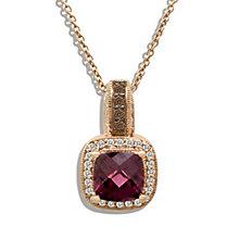 Le Vian 14ct Strawberry Gold 20pt diamond rhodolite pendant - Product number 8540845
