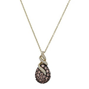 LeVian 14CT Gold One Carat Chocolate Diamond Pendant - Product number 8540934