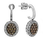 LeVian 14CT Gold Sixty Point Chocolate Diamond Earrings - Product number 8540985