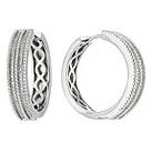 Amanda Wakeley silver diamond vintage hoop earrings - Product number 8541019