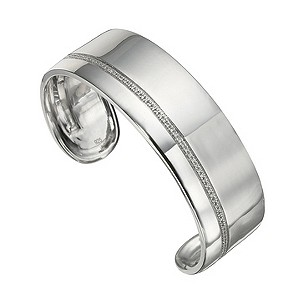 Amanda Wakeley sterling silver quarter carat diamond cuff - Product number 8541086