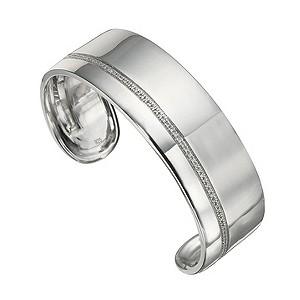 Amanda Wakeley sterling silver quarter carat diamond cuff - Product number 8541086