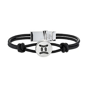 Amanda Wakeley black treated diamond Gemini leather bracelet - Product number 8541183