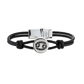 Amanda Wakeley black treated diamond Cancer leather bracelet - Product number 8541191