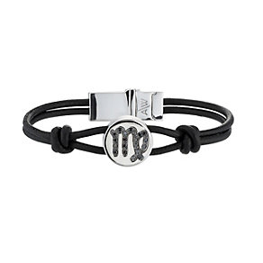Amanda Wakeley black treated diamond Virgo leather bracelet - Product number 8541213