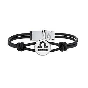 Amanda Wakeley black treated diamond Libra leather bracelet - Product number 8541221