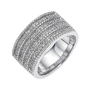 Amanda Wakeley sterling silver half carat diamond set ring - Product number 8541299