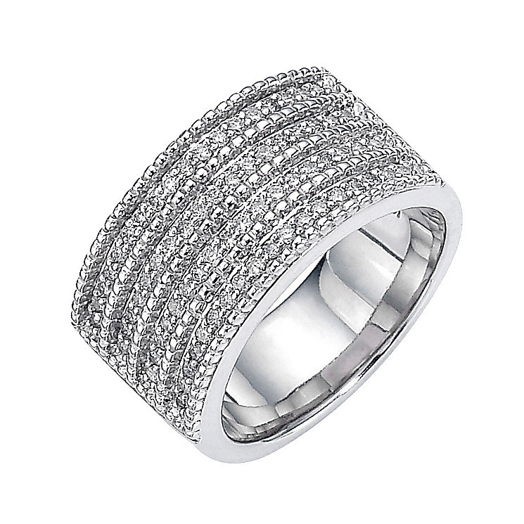Sterling Silver Half Carat Diamond Set Ring - Product number 8541299