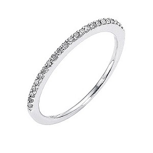 Amanda Wakeley sterling silver 15 point diamond set ring - Product number 8541434