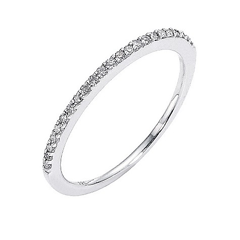 Amanda Wakeley sterling silver 15 point diamond set ring