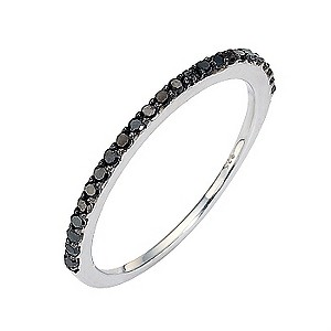 Amanda Wakeley sterling silver black coloured diamond ring - Product number 8541698