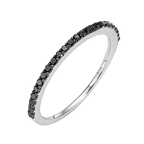 Amanda Wakeley sterling silver black coloured diamond ring