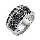 Amanda Wakeley white and black coloured treated diamond ring - Product number 8541825