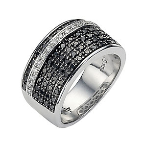 Amanda Wakeley white and black coloured treated diamond ring - Product number 8541825