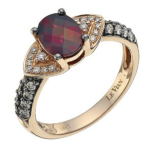 LeVian 14CT Strawberry Gold 0.30CT Diamond & Rhodalite Ring - Product number 8542619
