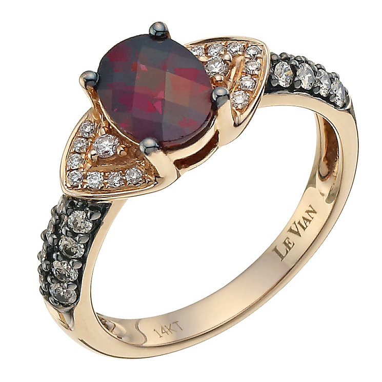 Le Vian 14ct Strawberry Gold 0.30ct diamond & rhodalite ring - Product number 8542619