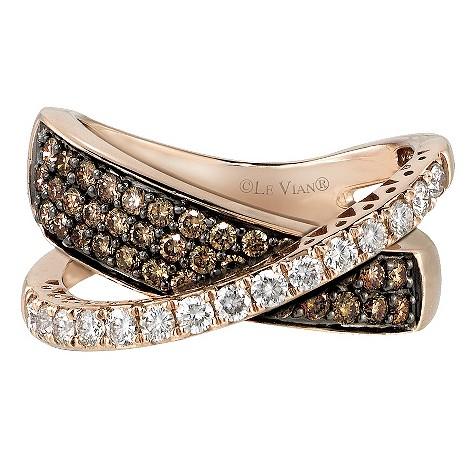 LeVian 14CT Strawberry Gold 1.14 Carat Diamond Ring