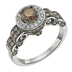 Le Vian 14ct White Gold 1ct Chocolate Diamond Ring - Product number 8542872