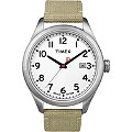 Timex Gent's T Series Beige Strap White Dial Watch - Product number 8544115