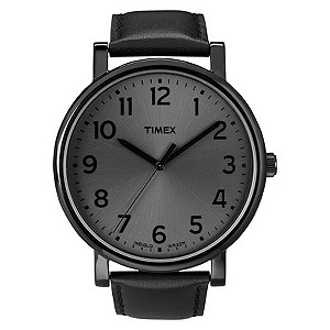 Timex Easy Reader Men's Black Leather Strap Watch - Product number 8544182