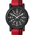 Timex Gent's Red Strap Black Dial Watch - Product number 8544255