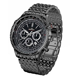 Exclusive Rotary Mens Black Ocean Watch