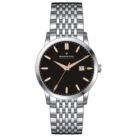 Dreyfuss & Co. Men's stainless steel bracelet watch - DGB00004/04