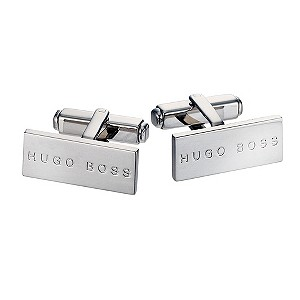 Hugo Boss Mens rectangular t-bar cufflinks