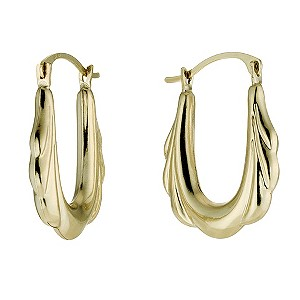 9ct Yellow Gold Victorian Creole Earrings - Product number 8561249