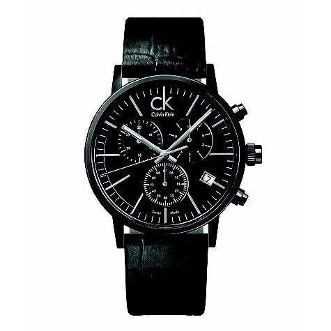 Calvin Klein black chronograph watch