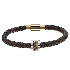 Spartan one bead brown leather twist bracelet - Product number 8573719