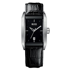 Hugo Boss men's stainless steel and black strap watch - Product number 8575924