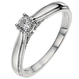 Platinum Third Carat Diamond Solitaire Ring